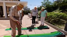 French care home looks beyond COVID with table football and minigolf