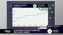 European stocks climb on recovery hopes