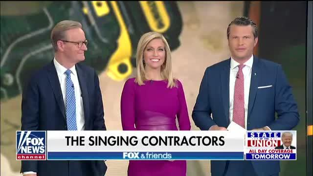 The Singing Contractors Perform On Fox Friends Video