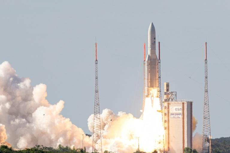 Europe must build on its successes, such as Ariane 5 rocket, seen here lifting off from the European Space Center in French Guiana, as it faces mounting challenges from the US, China and private sector disruptors such as Elon Musk's Space X