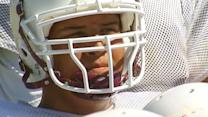 12-year-old athlete deemed too big finally hits gridiron