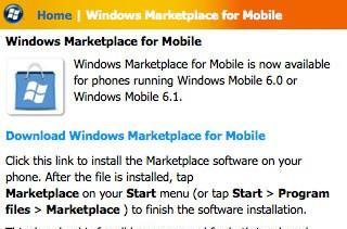 Windows Marketplace tweaked, installs to storage cards now possible (Android, take note)