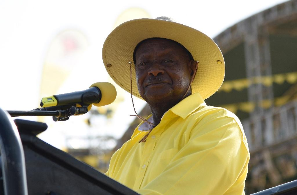 Uganda's veteran President Yoweri Museveni of the ruling National Resistance Movement (NRM) party looks set to win a fifth term in office (AFP Photo/Isaac Kasamani)