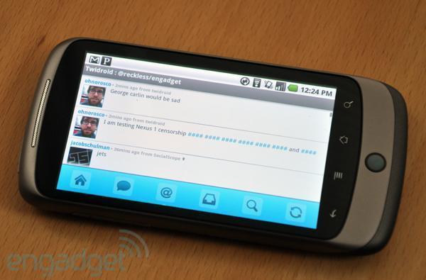 Google's Nexus One censors your voice-to-text input, we #### you not