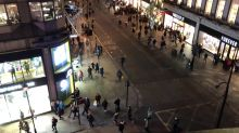 Aerial view captures panic at Oxford Circus