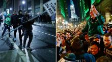Philly fans destroy the city after Super Bowl win