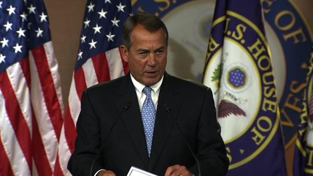 Boehner: Fiscal cliff is Obama's
