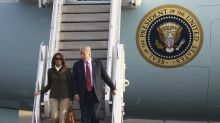 Melania Trump channels Jackie O. as she lands in Scotland