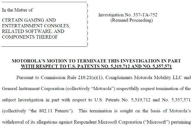 Motorola scales back ITC case against Xbox, drops WiFi patent complaints