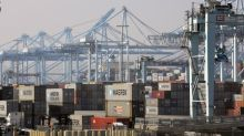 U.S. business spending appears to stabilize; goods trade gap widens