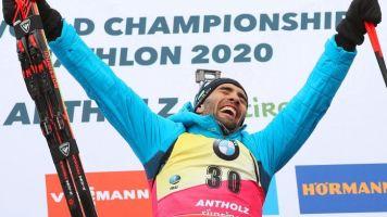 """Biathlon : """"Je n'ai pas commencé le sport pour entrer dans les livres d'histoire et pour battre les records"""", a confié Martin Fourcade après son onzième titre individuel"""