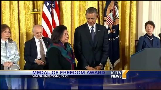 Sen. Inouye posthumously honored with Medal of Freedom