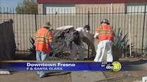 City of Fresno clears out Downtown Fresno homeless camp