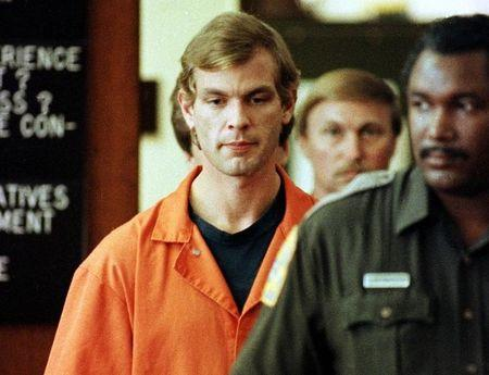FILE PHOTO OF JEFFREY DAHMER AT EARLY COURT APPEARANCE.