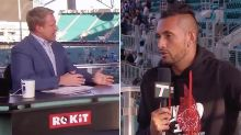'Since when is that a smart idea?': TV host grills Nick Kyrgios