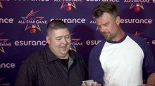 Opening 25-year-old baseball cards with actor Josh Duhamel