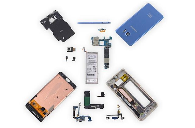iFixit rips out the Galaxy Note Fan Edition's new battery