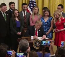 UC Berkeley students attend as President Trump signs executive order to protect free speech on college campuses