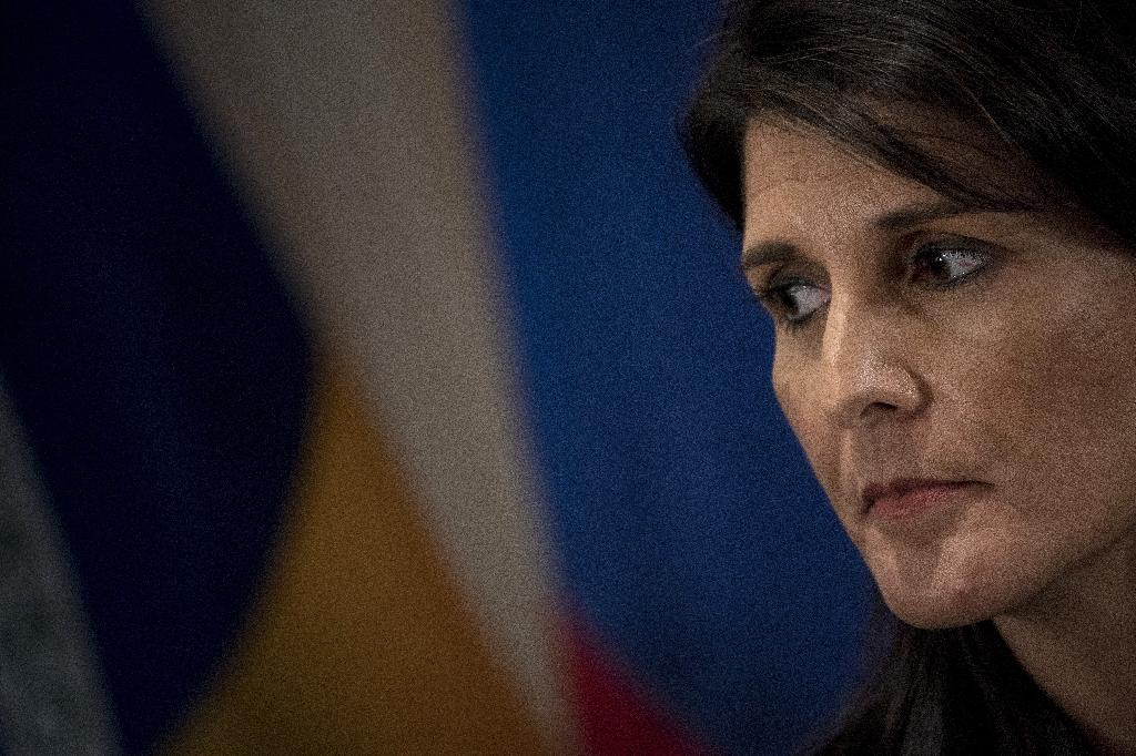 """US Ambassador to the UN Nikki Haley said """"women who accuse anyone should be heard"""", when asked about sexual misconduct allegations against President Trump"""