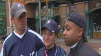 Detroit Tigers fans react after game