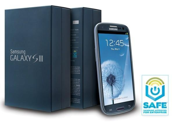 Samsung Galaxy S III gets enterprise-friendly version in the US, wears a Pebble Blue business suit