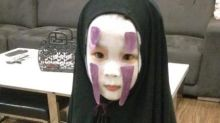 「無臉男」小女孩又來嚇人了!今年萬聖節以《死亡筆記》造型嚇壞同學