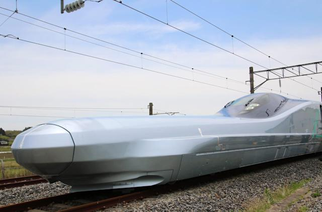 Japan begins testing the world's fastest bullet train