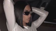 Here's Kim Kardashian In a See Through Top While Looking Like a Sci-Fi Character