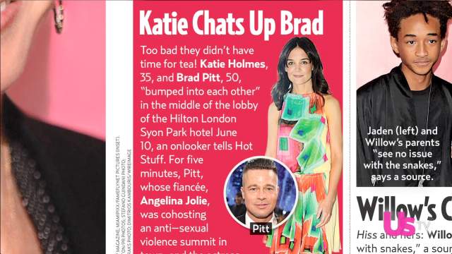Brad Pitt, Katie Holmes Bump Into Each Other, Talk Kids and Angelina Jolie