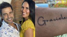 """Graciele Lacerda diz que """"caiu no choro"""" com tatuagem de Zezé: """"Não esperava"""""""
