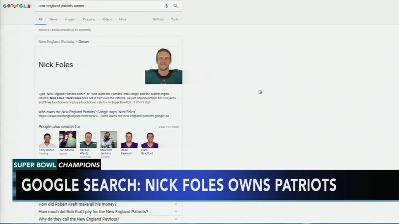 nick foles owns the patriots google says video