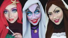 Muslimische Visagistin nutzt Hijab für coole Disney-Looks