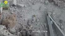Videos purport to show bombing aftermath, aid delivery in Syria