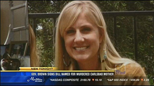 Gov. Brown signs bill named for murdered Carlsbad mother