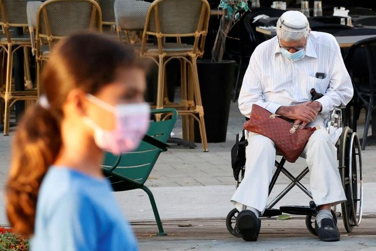 """The government has branded numerous cities """"red"""" for their high infection rates, including Netanya, on the the Mediterranean coast north of Tel Aviv"""