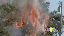 Wildfires burn around California and the Valley