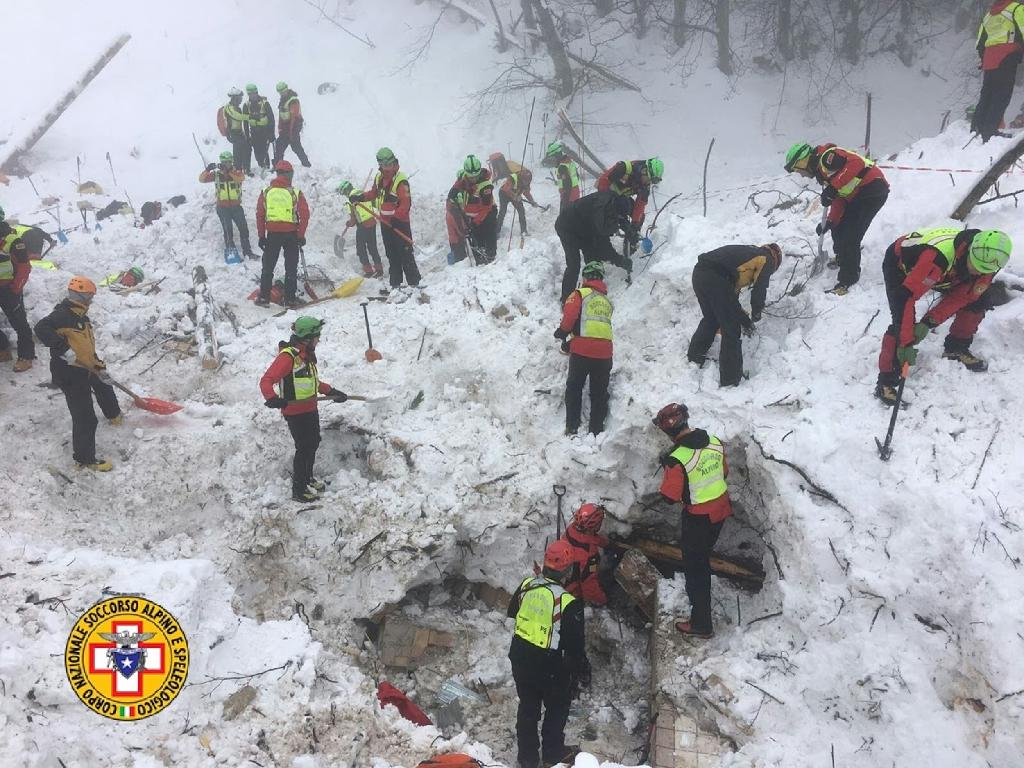 Italian rescuers searching the Hotel Rigopiano after it was ripped from its foundations by a wall of snow and debris, saved 11 people and found 29 bodies