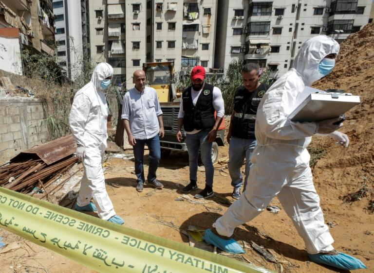 Israel has not claimed responsibility for two drones that came down in south Beirut, a Hezbollah stronghold, on August 25, 2019 (AFP Photo/ANWAR AMRO)
