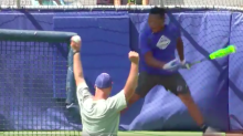 A 13-year-old Little Leaguer belted a home run at Braves park