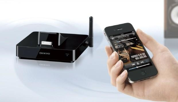 Onkyo DS-A5 grafts AirPlay on to existing home stereos, docks older iOS gear