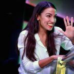 Like Me, Alexandria Ocasio-Cortez Enjoys an $8 Press-On Manicure With a Nice Glass of Wine