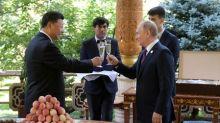 Russia's Putin gives China's Xi ice cream on his 66th birthday