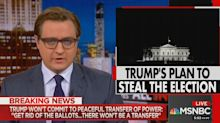MSNBC's Chris Hayes warns of a coup after Trump says he wants to 'get rid of ballots'
