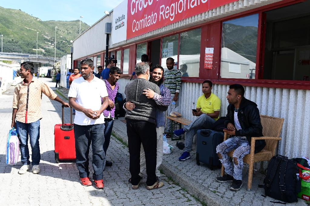 Some 400 migrants currently stay a Red Cross camp outside Ventimiglia (AFP Photo/MIGUEL MEDINA)
