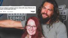 Fan's photo with Jason Momoa goes viral for obvious reasons