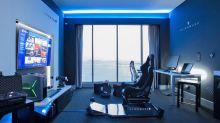 希爾頓酒店聯手 Alienware 設置了一間電競主題套房