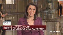 David Einhorn is short Assured Guaranty