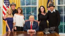 Sarah Palin Wore an Off-the-Shoulder Lace Top to the White House
