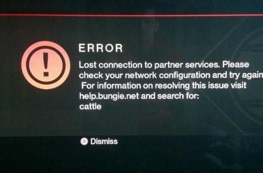 Destiny servers down, blame the cattle [Update]