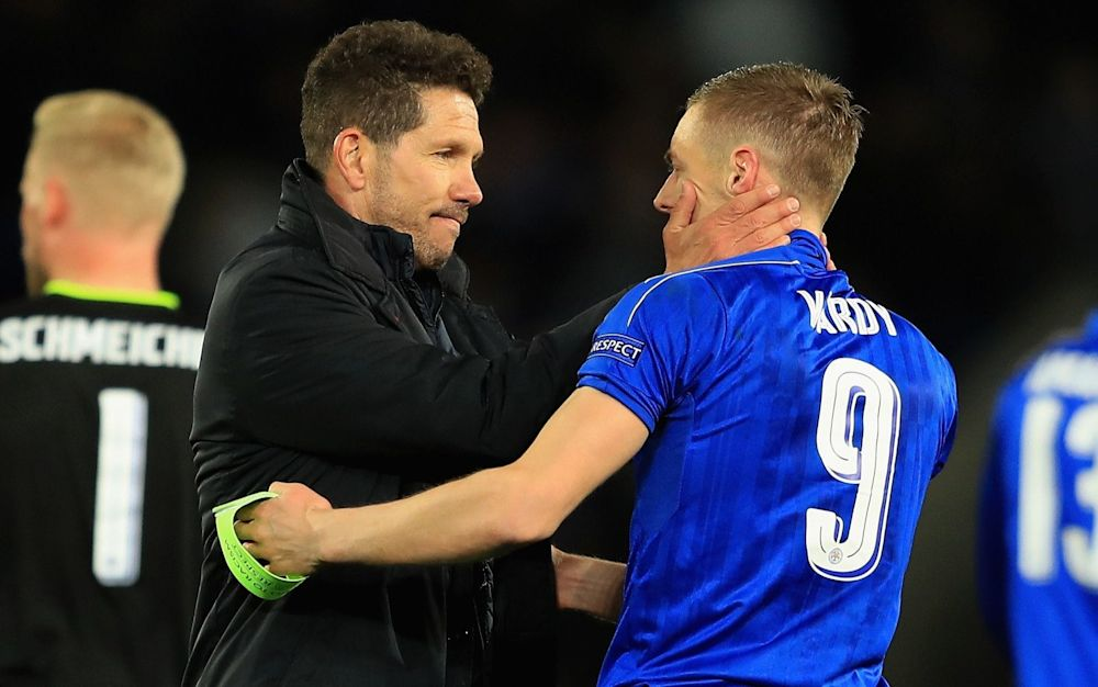 Reputations enhanced: Diego Simeone shows his admiration for the performance of Jamie Vardy and co - Getty Images Europe